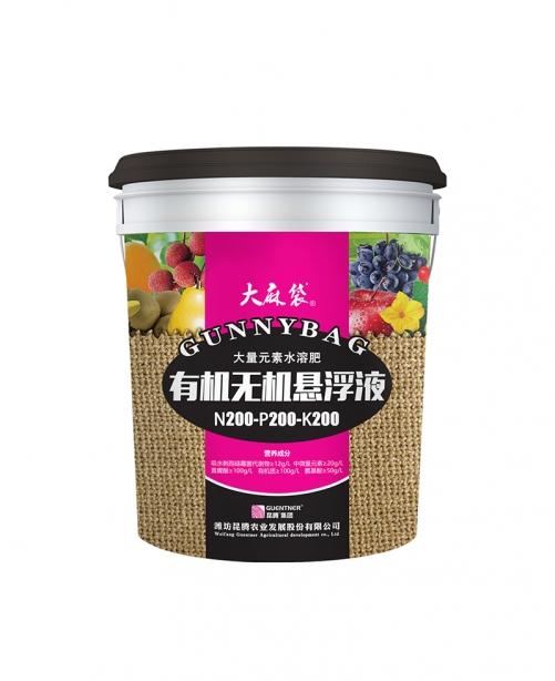 武汉大麻袋大量元素水溶肥有机无机悬浮液200-200-200